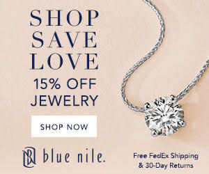 15% Off Select Jewelry for Valentine's Day @ Blue Nile