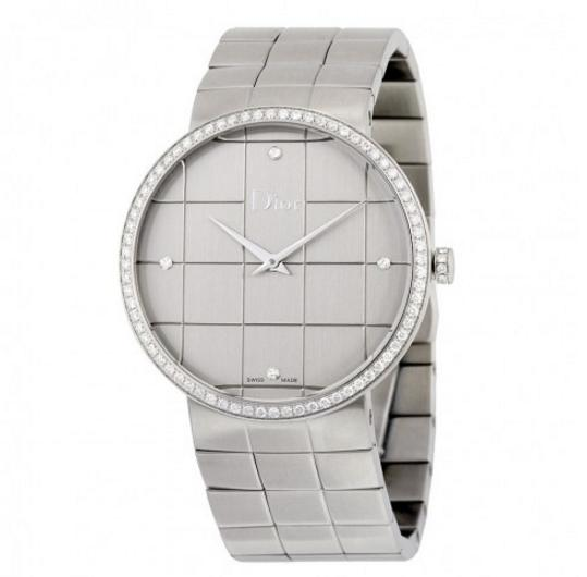 DIOR La D De Silver Dial Stainless Steel Ladies Watch No. CD043113M001