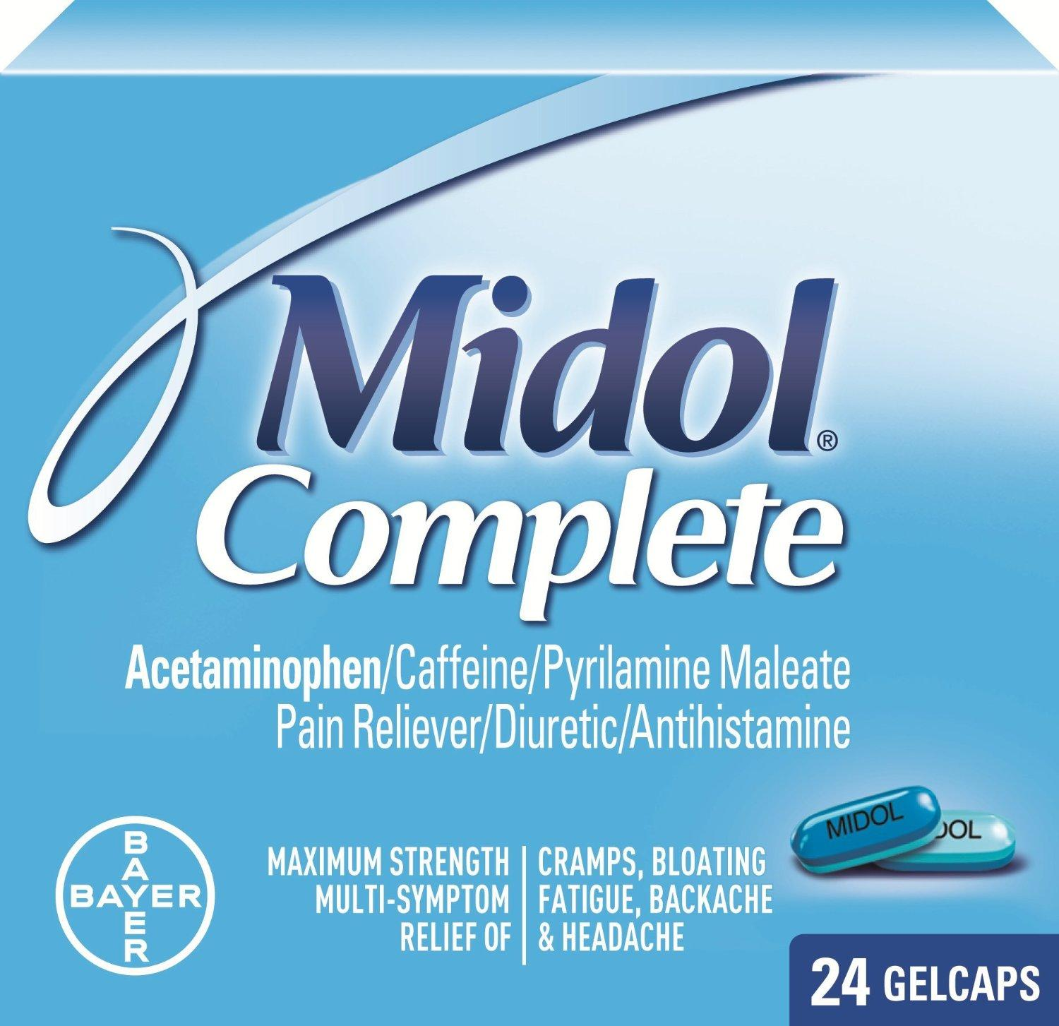 $4.74 Midol Complete Gelcaps, 24-Count Box