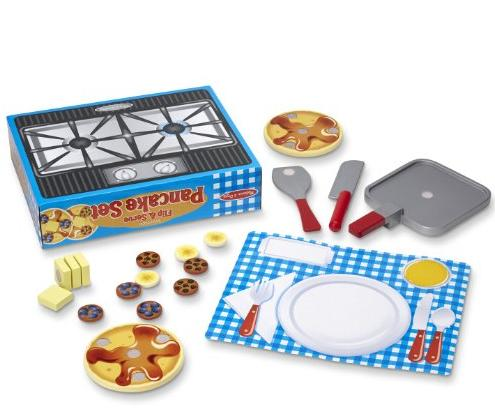 Melissa & Doug Wooden Flip and Serve Pancake Set @ Amazon