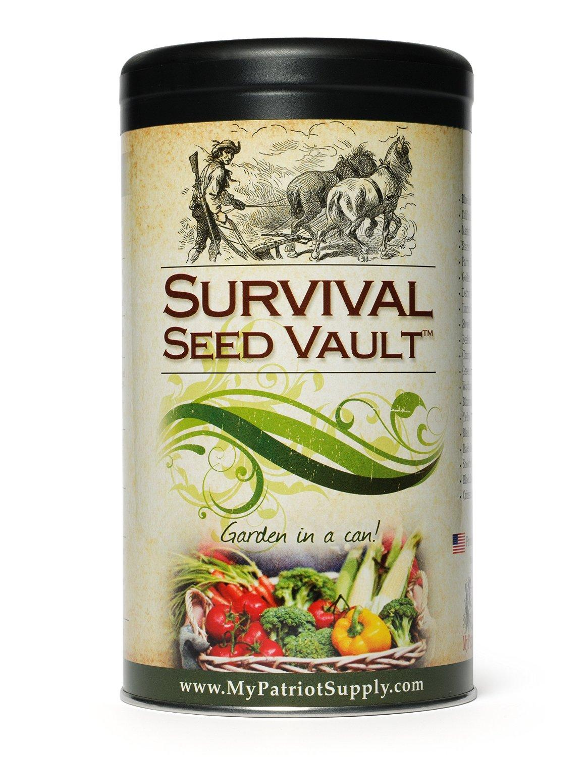 Survival Seed Vault - Heirloom Emergency Survival Seeds