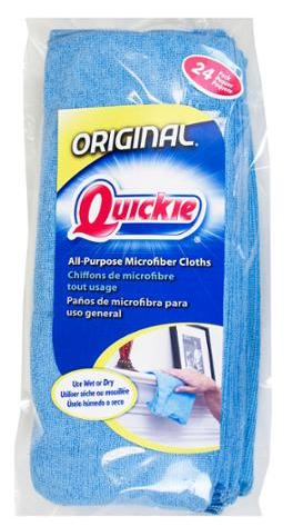 Quickie Microfiber Towels, 24-Pack, Blue
