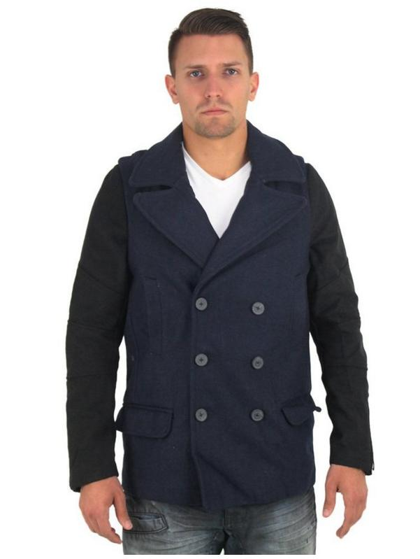 Cohesive Signature Men's Wool Double Breasted Peacoat Coat