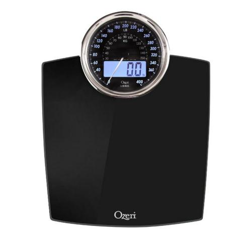$14.95 Ozeri ZB19-W Rev Digital Bathroom Scale with Electro-Mechanical Weight Dia