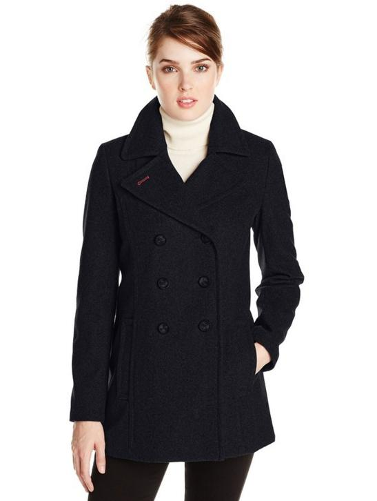 Tommy Hilfiger Women's Double-Breasted Classic Peacoat