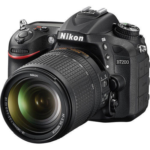 $949 Nikon D7200 DX-Format Digital SLR + 18-140 VR NIKKOR Zoom Lens Kit