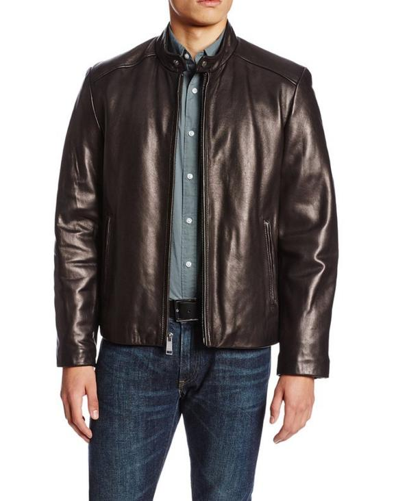 $146.88 Marc New York by Andrew Marc Men's Sam Smooth Lamb Leather Jacket