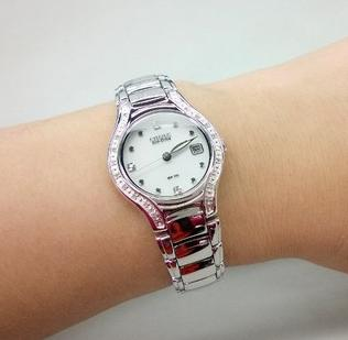 Citizen Eco Drive Silhouette Diamond Ladies Watch EW0970-51B