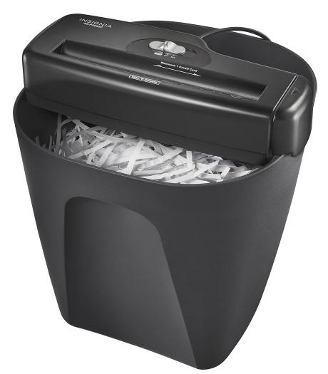 Insignia 6-Sheet Stripcut Portable Shredde