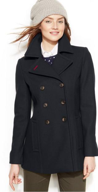 Tommy Hilfiger Women's Double-Breasted Classic Peacoat @ Amazon