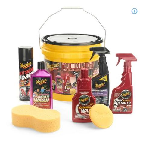 $9 Meguiar's 8-Piece Complete Auto Detail Bucket Kit