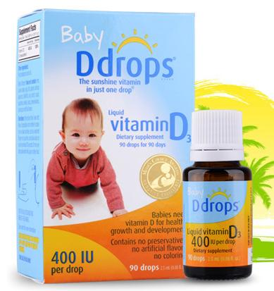 $12.04Ddrops Baby Vitamin D3 400IU, 90 drops 2.5mL (0.08 fl.oz)