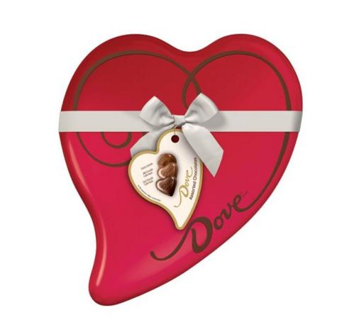Lightning deal! DOVE Assorted Chocolates 8.13-Ounce Valentine Heart Tin