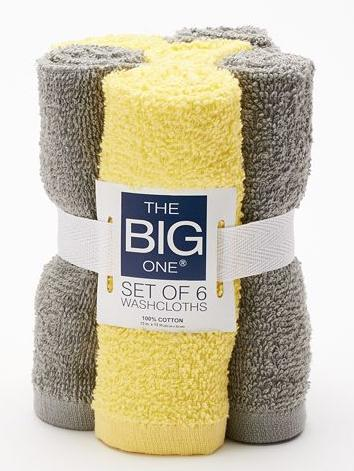 The Big One® Solid 6-pk Washcloths