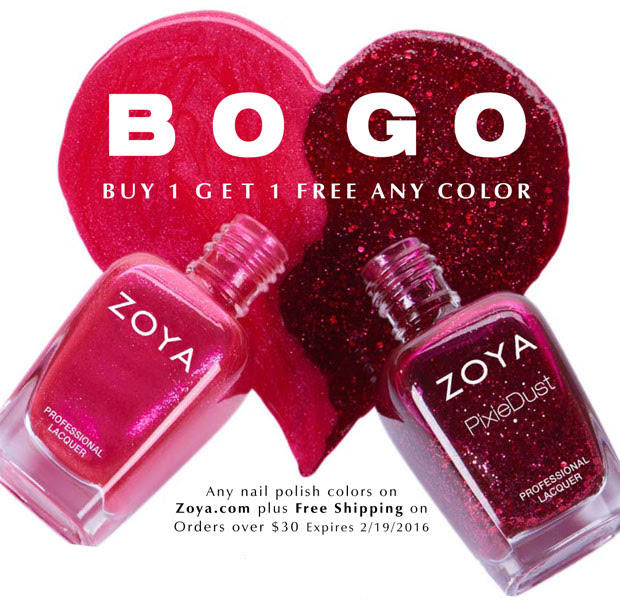 Buy one get one free Any Nail Polish Shade @ Zoya