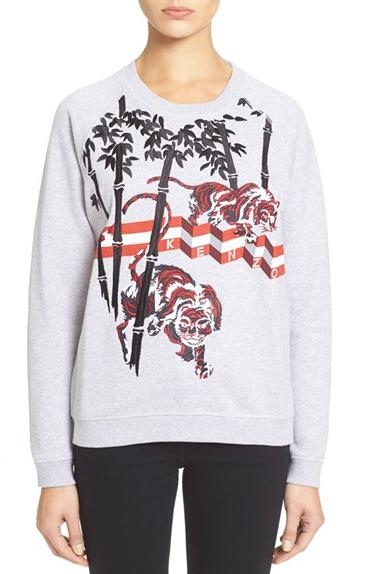KENZO Embroidered Tiger Sweatshirt On Sale @ Nordstrom