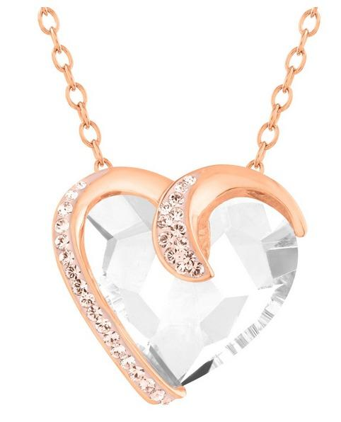 Heart Necklace with Swarovski Crystals