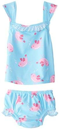 $12.00 i play. Baby Girls' Swim Diaper 2 piece Tankini Set UPF 50+