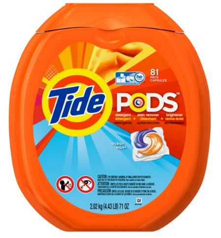 $13.99 Tide PODS Ocean Mist HE Turbo Laundry Detergent Pacs 81-load Tub