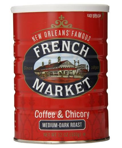 $3.21 FRENCH MARKET Coffee and Chicory, Medium-Dark Roast, 12 Ounce Can