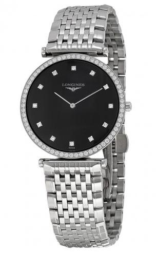 Longines La Grande Classique Black Dial Steel Ladies Watch L4.741.0.58.6