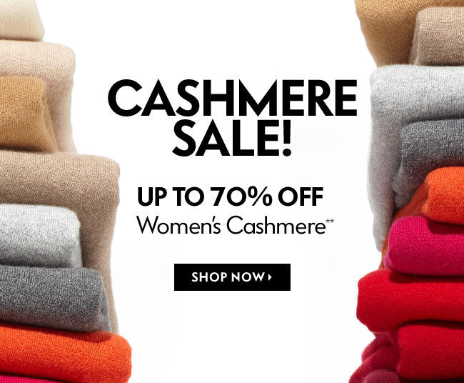 Up to 70% Off Women's and Men's Cashmere