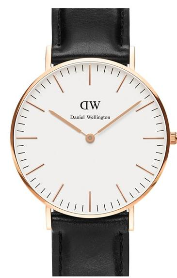 Daniel Wellington 'Classic Sheffield' Leather Strap Watch, 36mm @ Nordstrom
