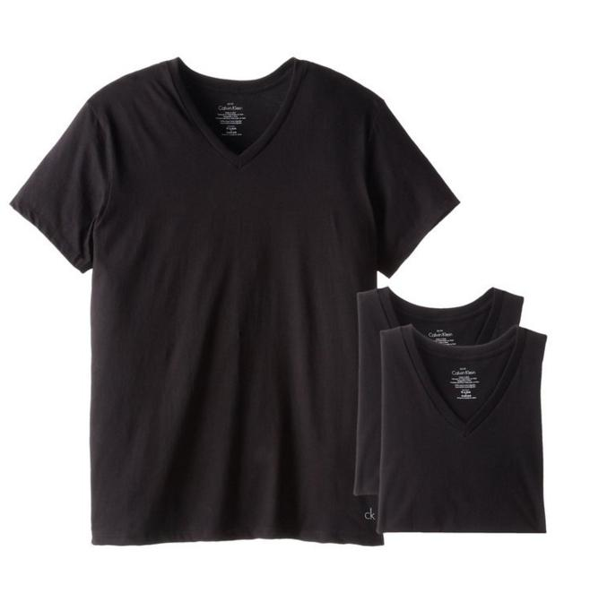 Calvin Klein Men's 3 Pack Cotton Classic Short Sleeve V-Neck T-Shirt