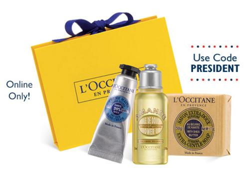 Free 3-Piece Gift with Any $40 Purchase @ L'Occitane