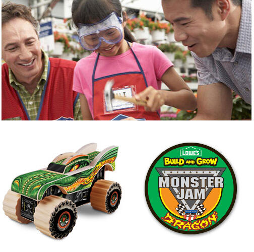 Monster Jam Lowe's Build and Grow Event
