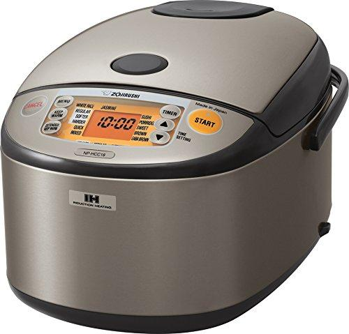 $285.33 Zojirushi NP-HCC18XH Induction Heating System Rice Cooker and Warmer, 1.8 L