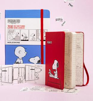 $13.34 Moleskine 2016 Peanuts Limited Edition Daily Planner, 12M, Large, Blue, Hard Cover (5 x 8.25)