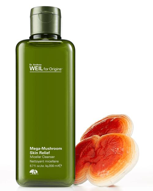 New Release Origins launched new Mega-Mushroom Skin Relief Micellar Cleanser