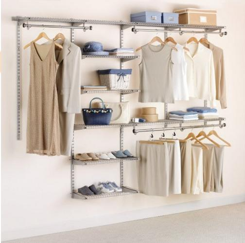 $86.24 Rubbermaid Configurations Custom Closet Deluxe Kit, Titanium, 4-8 Foot