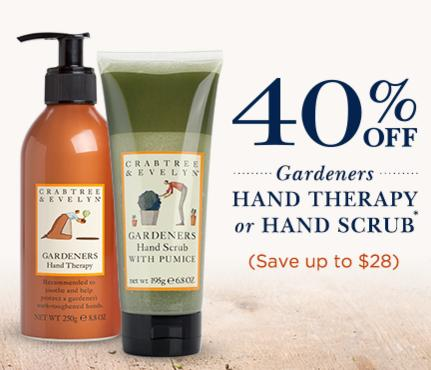 40% off (Save up to $28) Gardeners Hand Scrub with Pumice and Gardeners Hand Therapy 250g