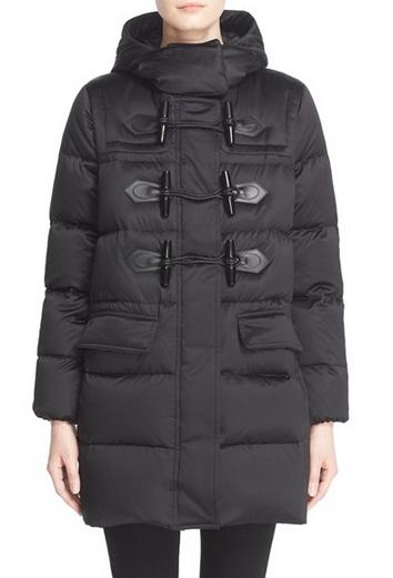Burberry Brit 'Altberry' Toggle Front Quilted Down Parka