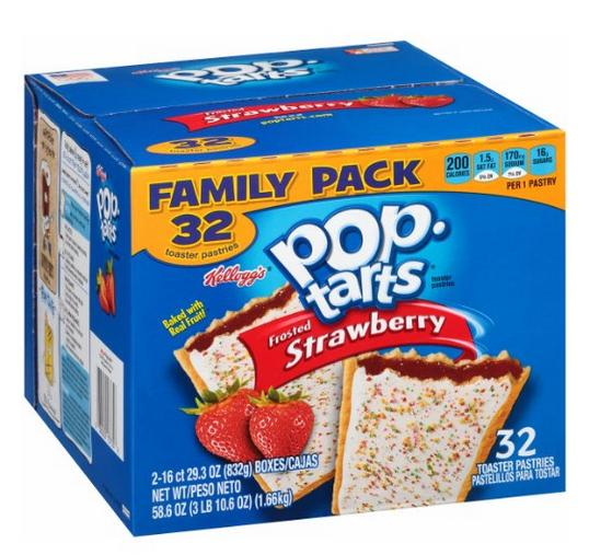 $5.73 Pop-Tarts, Frosted Strawberry, 32 Count, 58.61 Ounce