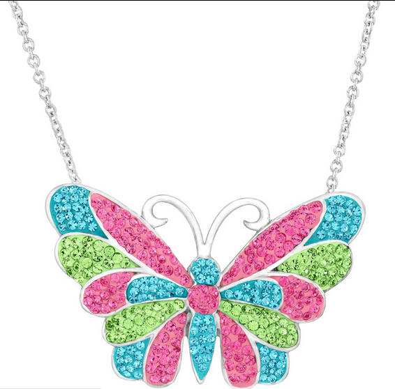 $49 Butterfly Pendant with Swarovski Crystals