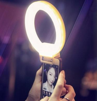 Smartphone LED Ring Selfie Light