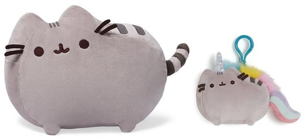 Pusheen the cat Plush Toy and Backpack Clip Set @ Groupon