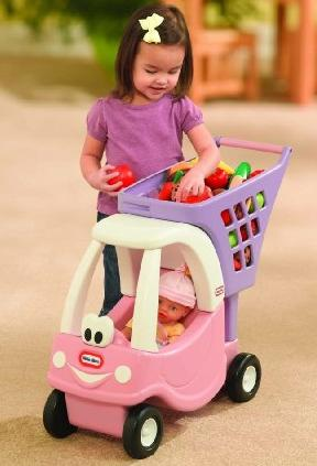 Lowest Price Ever! Little Tikes Cozy Shopping Cart Pink/Purple @ Amazon