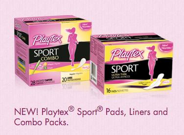Free Playtex® Sport® Pads, Liners and Combo Packs @ Playtex