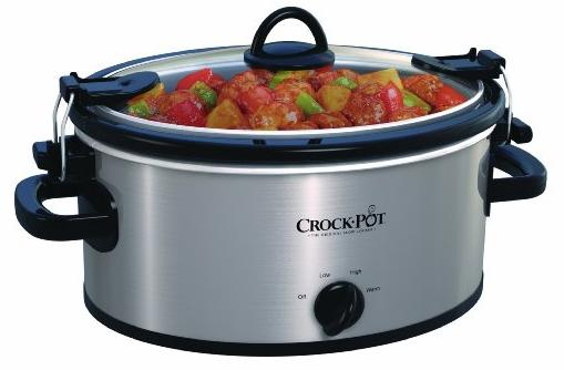 Crock-Pot SCCPVL400-S 4-Quart Cook and Carry Slow Cooker, Stainless Steel @ Amazon