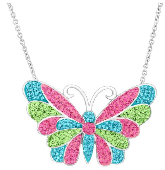 $49 Crystaluxe Butterfly Pendant with Swarovski Crystals Sterling Silver (Dealmoon Exclusive)