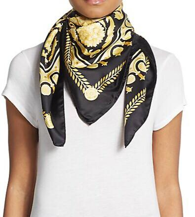 Versace silk scarf @ Saks Off 5th