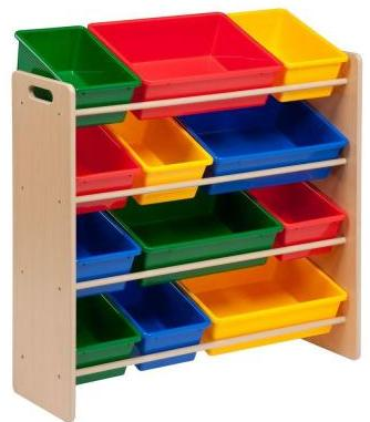 Honey-Can-Do Kids Storage Organizer with 12 Bins in Natural
