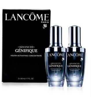Free 10-piece Gift  (up to a $186 Value) + fragrance sampler bag with Lancôme Advanced Génifique Youth Activating Duo purchase @ macys.com