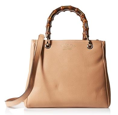 Gucci Bamboo Shopper Leather Tote, Beige On Sale @ MYHABIT