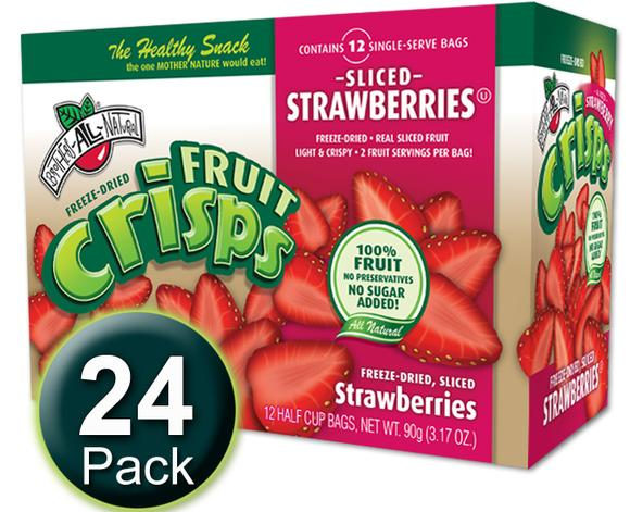 $6.07 Brothers-ALL-Natural Fruit Crisps, Strawberry, 0.26 Ounce (Pack of 24) @ Amazon