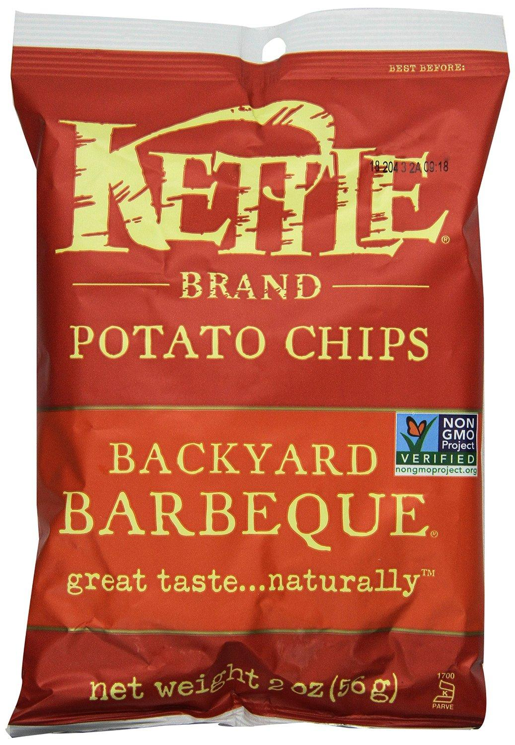 8.35 Kettle Brand Chips, Backyard BBQ, 2-ounces (Pack of24)
